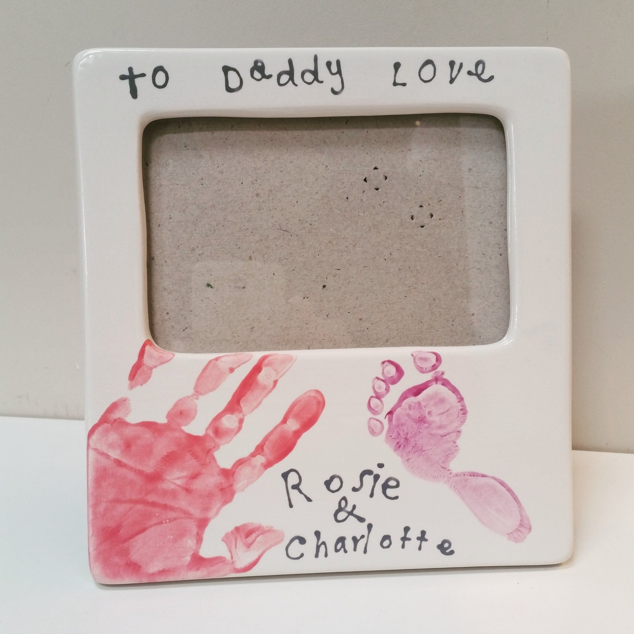 Flying_Colours_Pottery_Mobile_pottery_painting_Bromley_babyfootprint_plate_treasured_keepsake_fathers_day